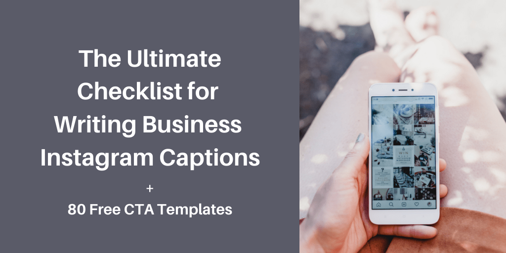 ultimate checklist for writing business instagram captions
